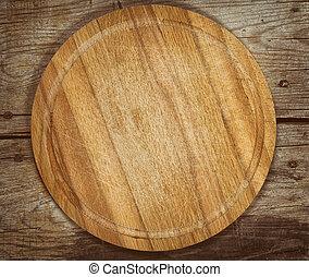 vieux, planche découper, sur, a, table bois