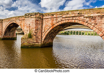 vieux pont, dans, berwick-upon-tweed