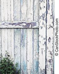 vieux, porte, détail, grange