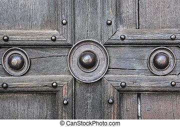 vieux, porte, détail