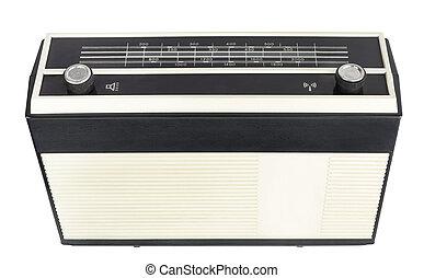 vieux, radio transistor, portable, récepteur
