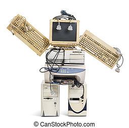 vieux, robot