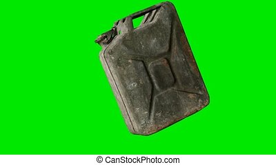 vieux, rouillé, fond, chromakey, essence, boîte métallique, vert