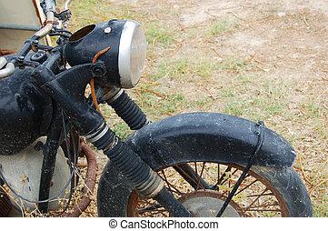vieux, rouillé, moto