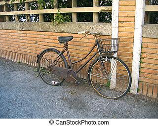 vieux, rouillé, ville, vélo