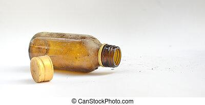 vieux, sale, bouteille