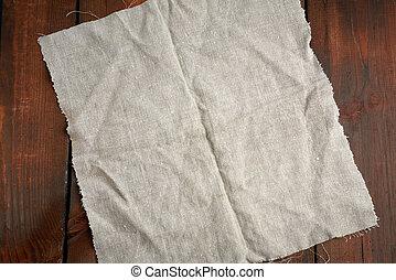 vieux, serviette cuisine, textile, gris, table, conseils, bois, brun