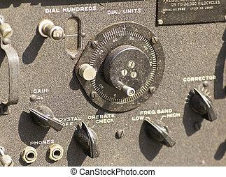 vieux, station, radio, armée