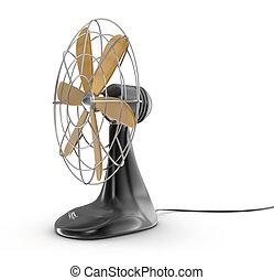 vieux style, ventilateur électrique