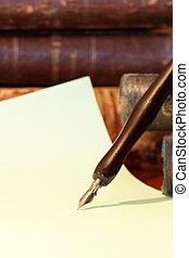 vieux, stylo