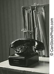 vieux, téléphone, dans, bureau