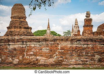 vieux, temple, architecture