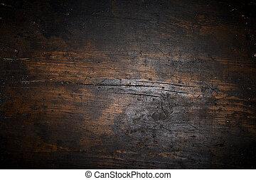 vieux, texture, sombre, bois, fond, vieilli