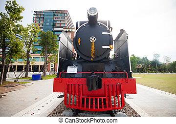 vieux, vapeur,  train, Thaïlande
