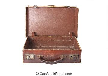 vieux, vendange, valise