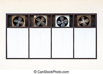 vieux, ventilation, ventilateur