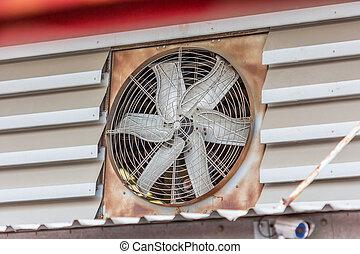 vieux, ventilation, ventilateur, sale