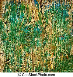 vieux, vert, texture bois, fond