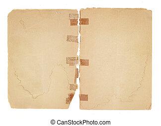 vieux, vide, revêtement, pages