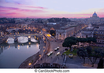 View Above Rome From Castle S'Angelo - Travel - Italy. View...