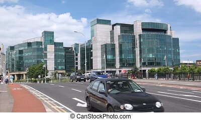 View across road on International Financial Services Centre in Dublin