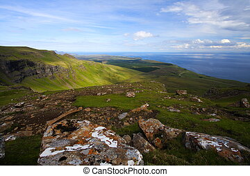 view across sound of raasay, isle of skye, scotland