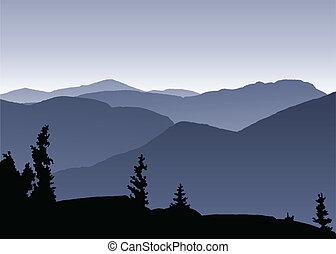 Adirondack Mountains - View across the Adirondack Mountains,...