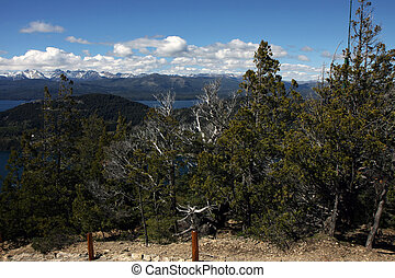 View from the Cerro Campanario viewpoint next to Bariloche in Argentina
