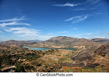 View at countryside in Sicily, Italy