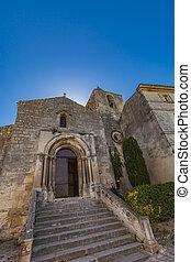 View at Eglise Saint Vincent des Baux in Les Baux-de-Provence, France