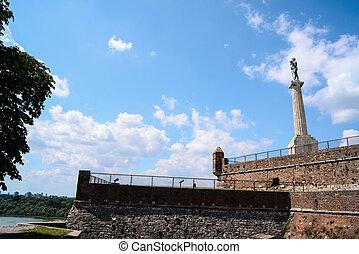 View at Kalemegdan fortress in Belgrade Serbia