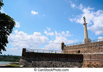 View at Kalemegdan fortress in Belgrade Serbia