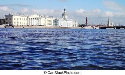 View at Kunstkamera museum, St. Petersburg, Russia - Neva...