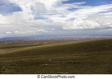 View at La Paz from the distance
