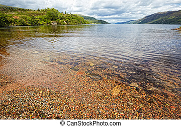 View at lake Loch Ness, Scotland - View at Loch Ness , the...