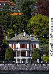 Mezzegra town on Como lake in Italy