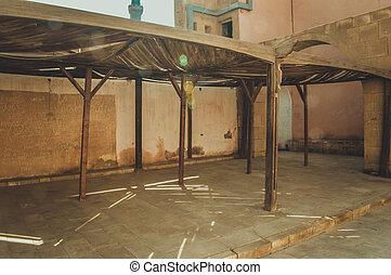 view at old prison at cairo citadel, egypt