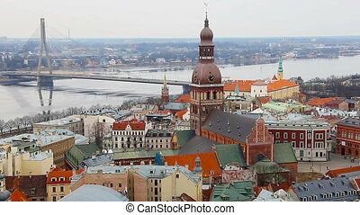 View at Riga from the tower