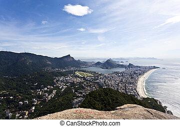 View at Rio de Janeiro from the Dois Irmaos mountain - Brasil - South America
