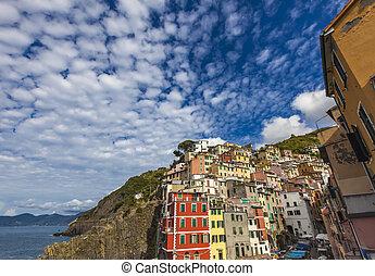Riomaggiore - View at Riomaggiore in Cinque Terre National...