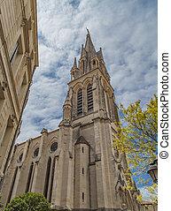 View at Sainte Anne Church in Montpellier, France
