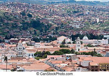 View at Sucre, capital of Bolivia