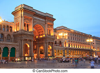 Vittorio Emanuele II gallery in Milan, Italy - View at ...