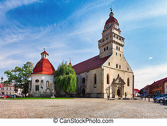 View at the Church of Saint Michael in Skalica, Slovakia