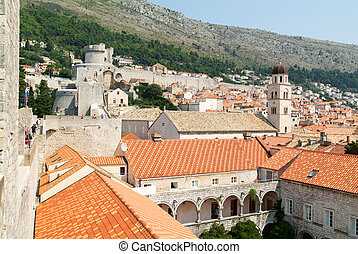 View at the old town of Dubrovnik