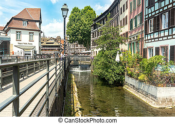 View at the Petit France quarter in Strasbourg.