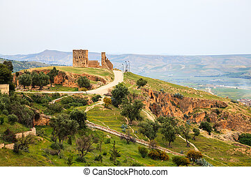 View at the viewpoint in fez, morocco