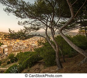 View at Tossa de Mar town, Spain