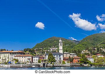 Town Cernobbio on Como Lake in Italy
