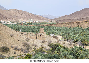 Image of a view from Birkat al mud in Oman